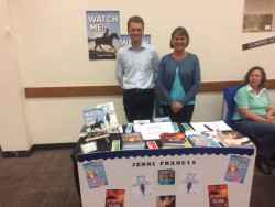 Giles Crosthwaite-Scott with author Jenni Francis