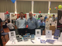 Giles Crosthwaite-Scott with author Trevor Jones