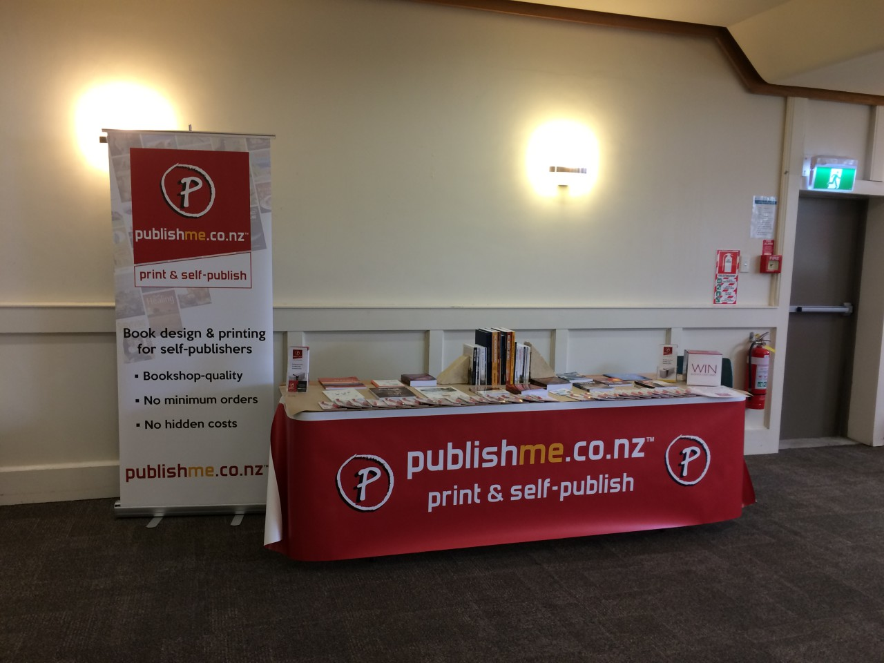 PublishMe stand NZ Book Festival 2016